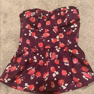Strapless dress shirt